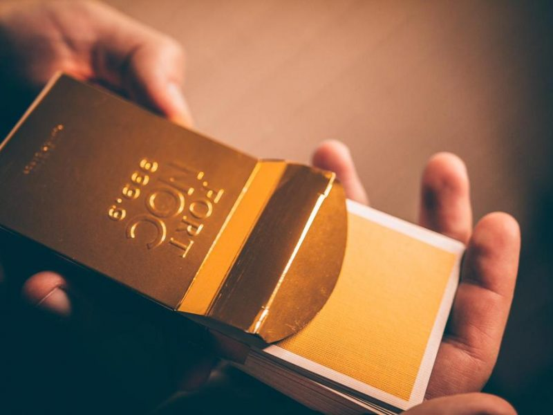 Gold Fort Noc .999 Limited Edition Playing Cards By Alex Pandrea Sealed
