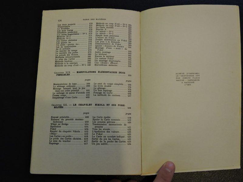 PAYOT Encyclopédie des tours de cartes Jean Hugard Edition 1970