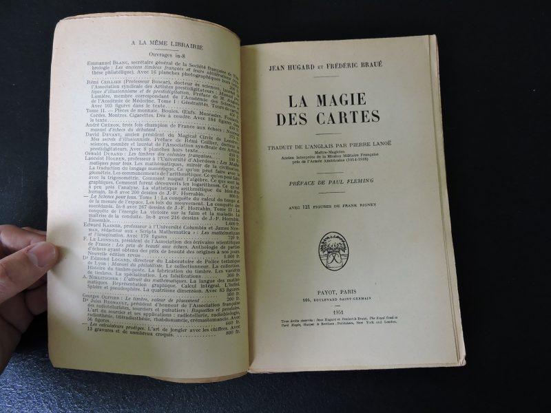 PAYOT La magie des cartes Jean Hugard et Frederic Braué Edition 1951