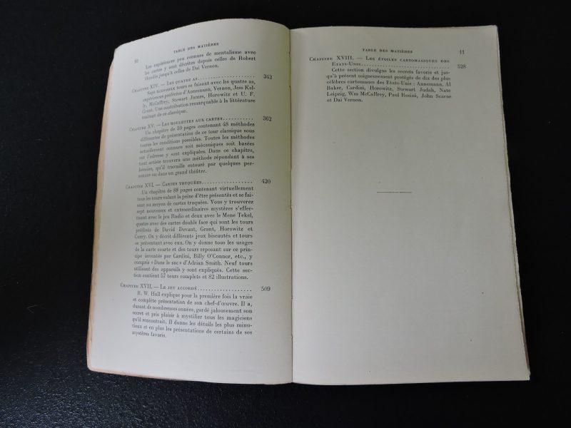 PAYOT La prestidigitation du XXe siècle Tome I Tours de cartes modernes John Northern Hilliard Edition 1954