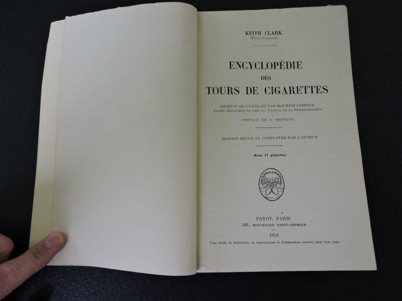 PAYOT Encyclopédie des tours de cigarettes Keith Clark (Pier Cartier) Edition 1958.