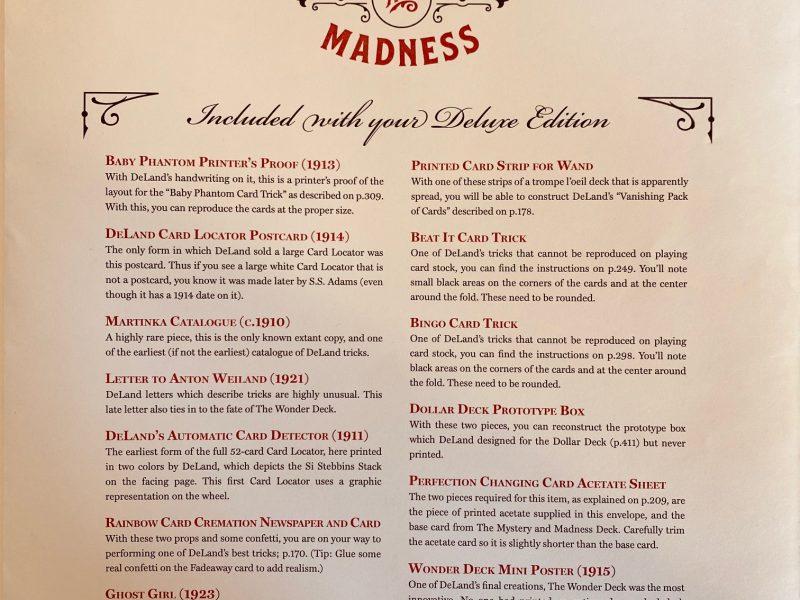 DeLand : Mystery & Madness - Edition COLLECTOR numérotée à 100 exemplaires